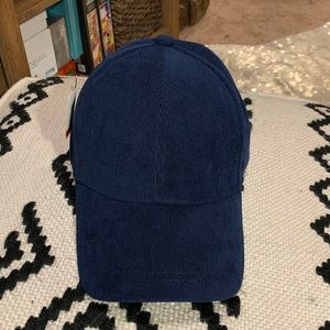 Accessories - NWT • Navy corduroy baseball cap